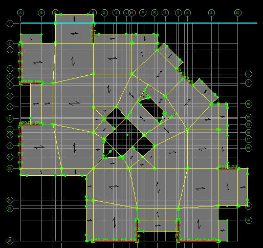 پروژه ساختمان  9 طبقه بتن آرمه با پلان نامنظم همراه با نقشه های اجرایی سازه