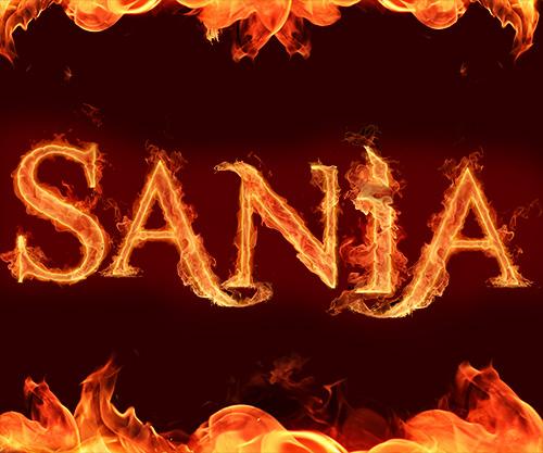 اسم سانیا طرح آتشین