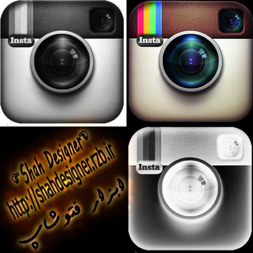 براش و لوگوی اینستاگرام