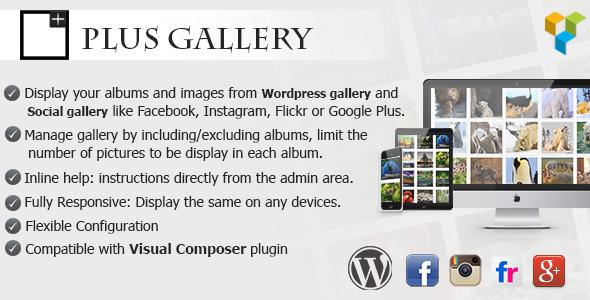 دانلود رایگان افزونه ساخت گالری در وردپرس Plus Gallery