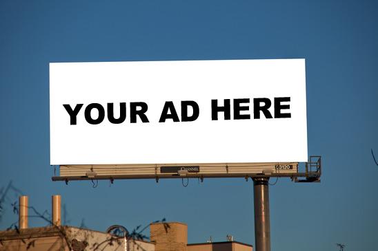محل مناسب برای تبلیغات آنلاین