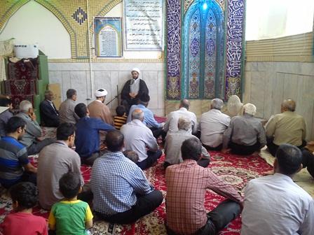 سخنرانی و اقامه نماز در مسجد فاطمه الزهرا
