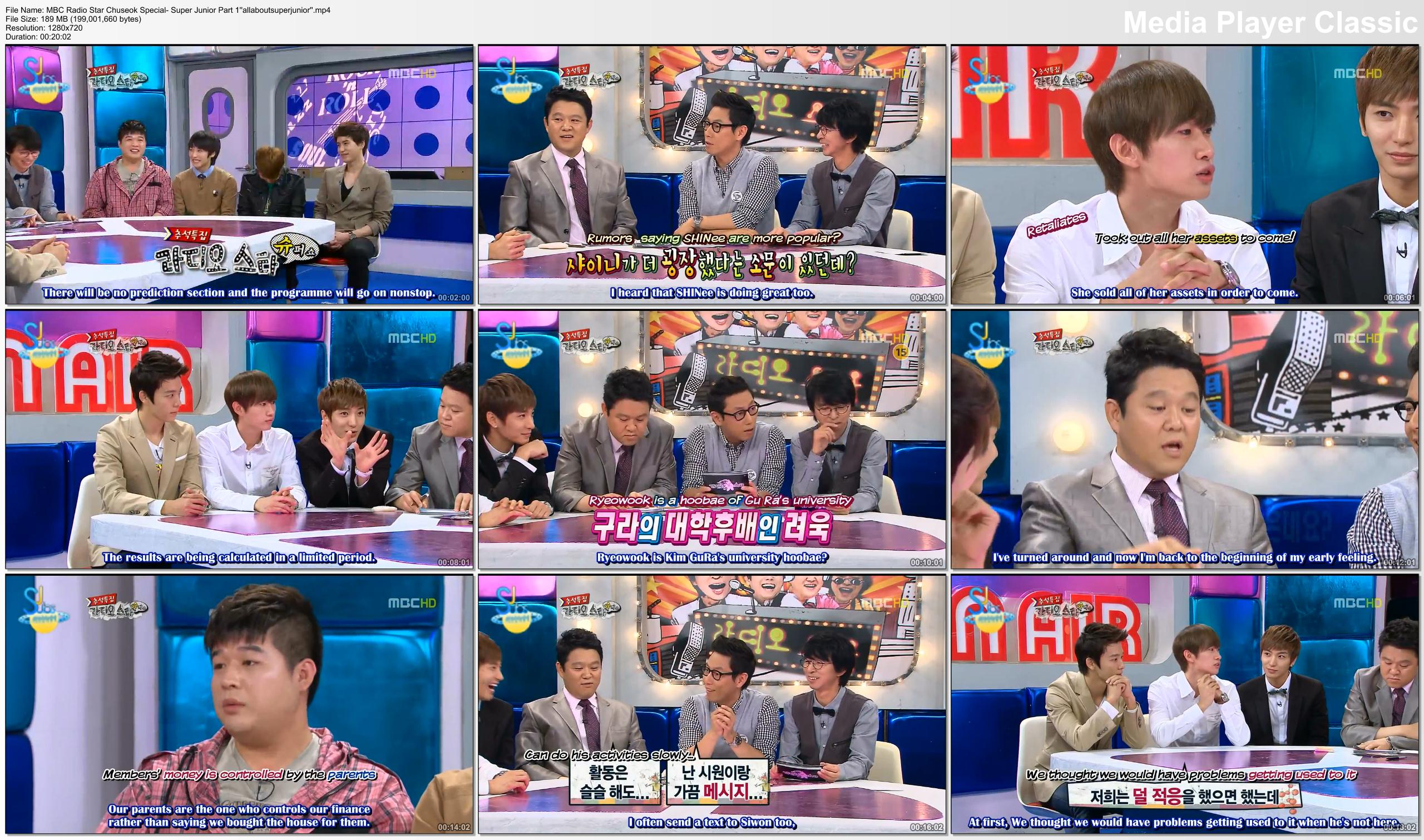 MBC Radio Star Chuseok Special with Super Junior