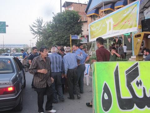 جشن ایستگاه صلواتی عید غدیر خم 95.06.30 در فاطمیه و مهدیه آمل برگزار شد